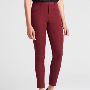 GAP Womens Slim Ankle Pants Size 6 Color Maroon
